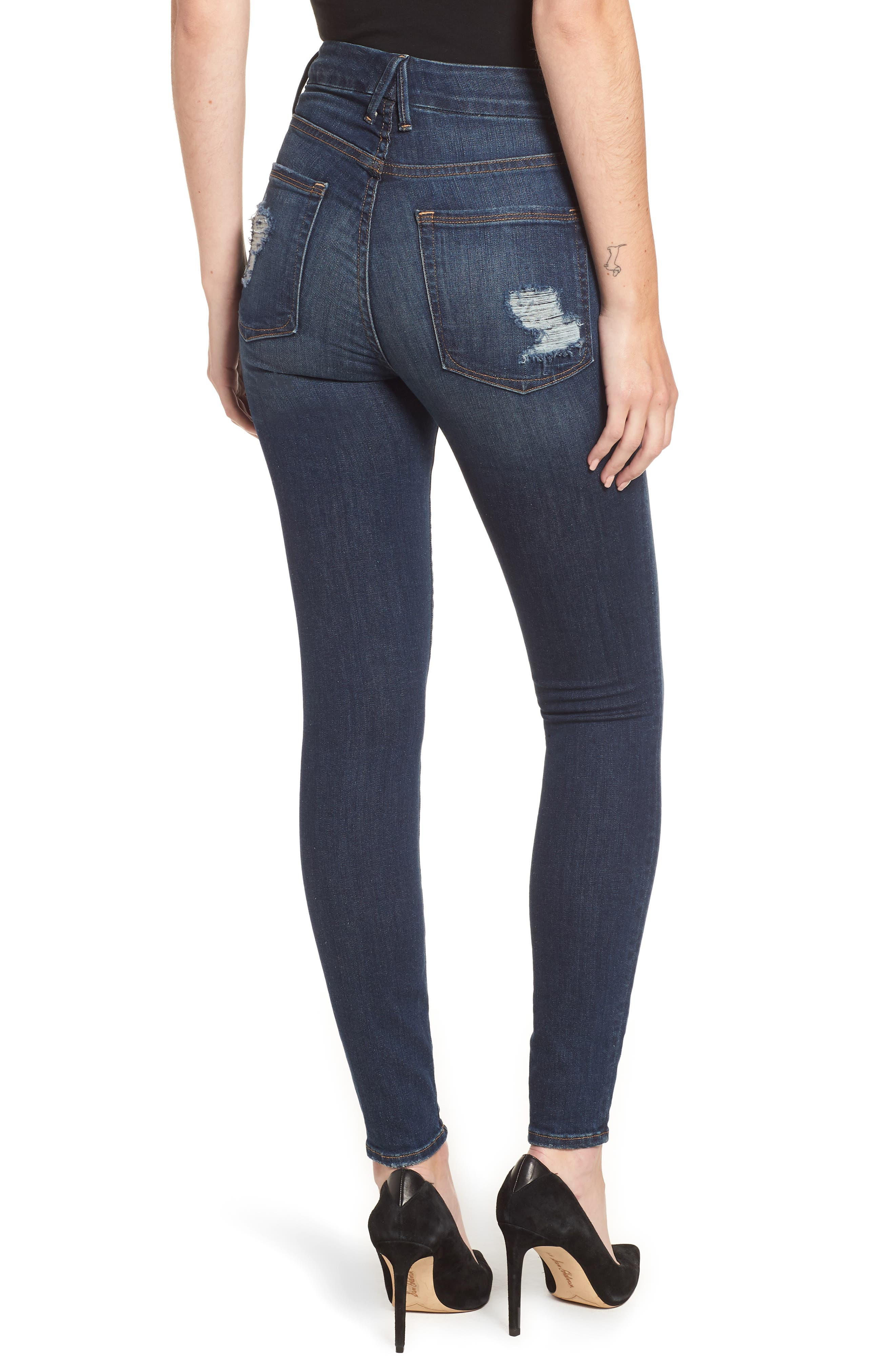 ,                             Good Legs High Waist Skinny Jeans,                             Alternate thumbnail 12, color,                             403