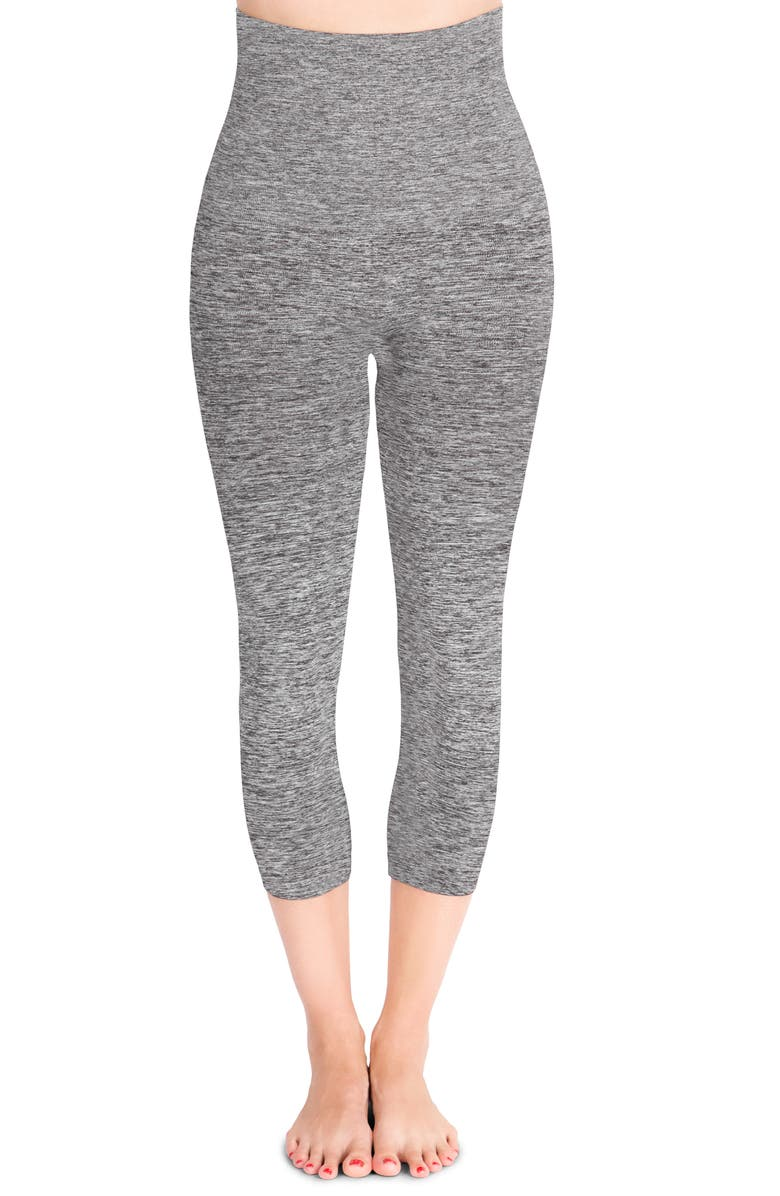 BELLY BANDIT<SUP>®</SUP> Mother Tucker<sup>®</sup> Compression Capri Leggings, Main, color, DARK HEATHER GREY