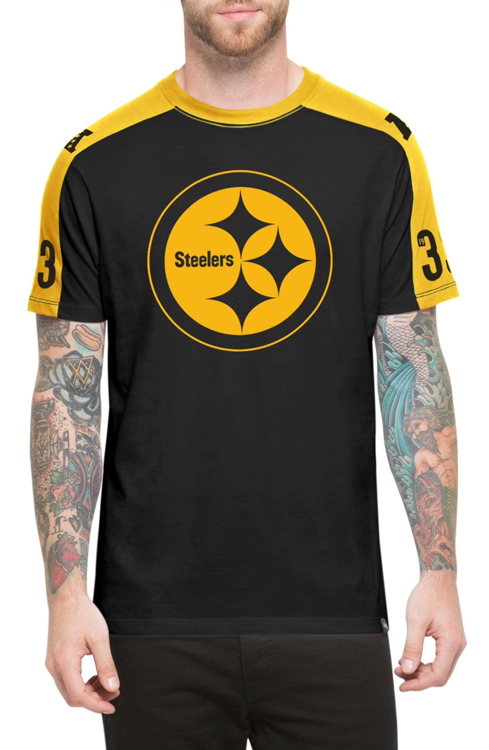 4a6a9275 47 Brand 'Pittsburgh Steelers - Pointman' Short Sleeve Crewneck T ...