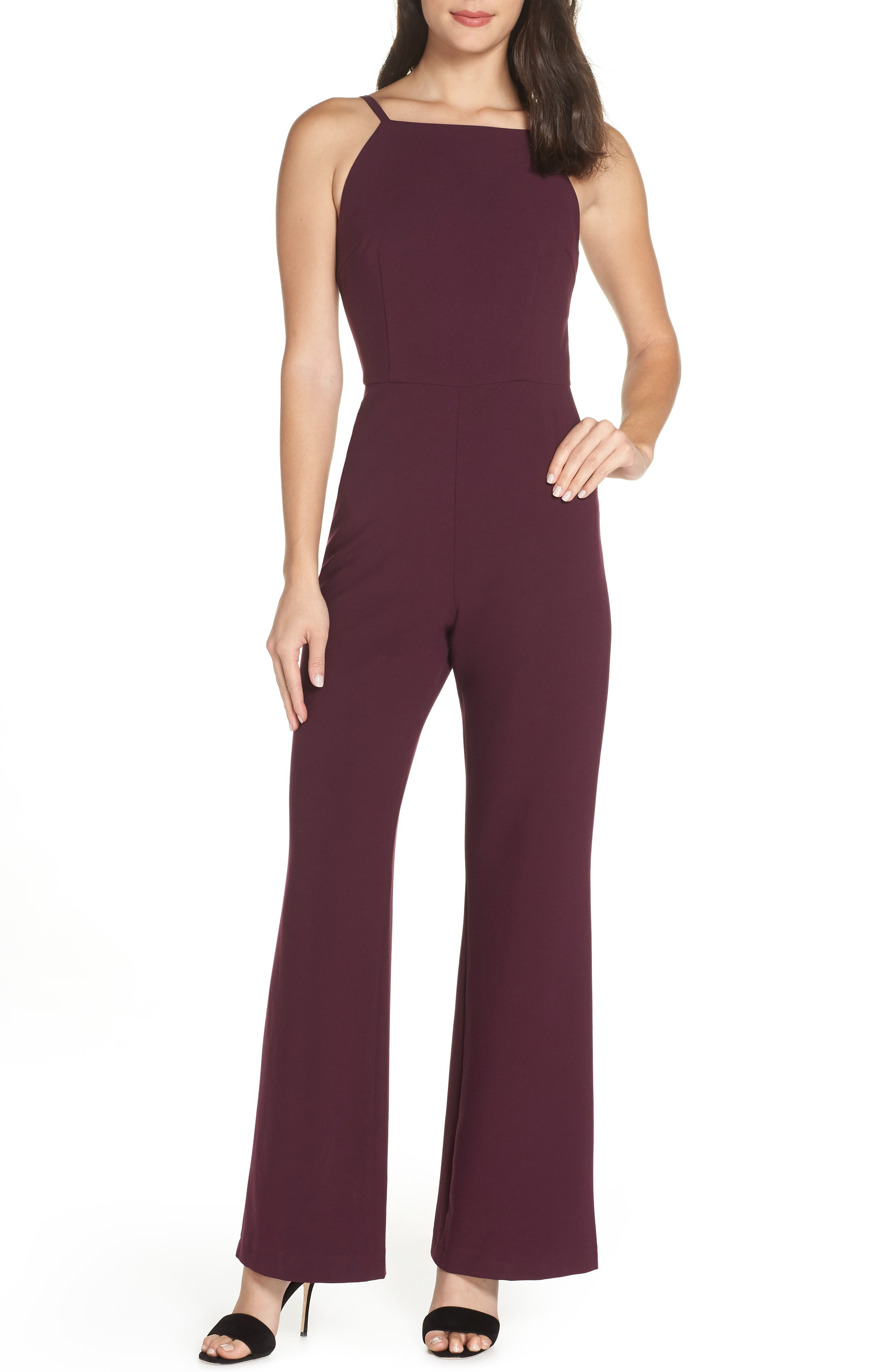 Image of French Connection Whisper Halter Neck Jumpsuit