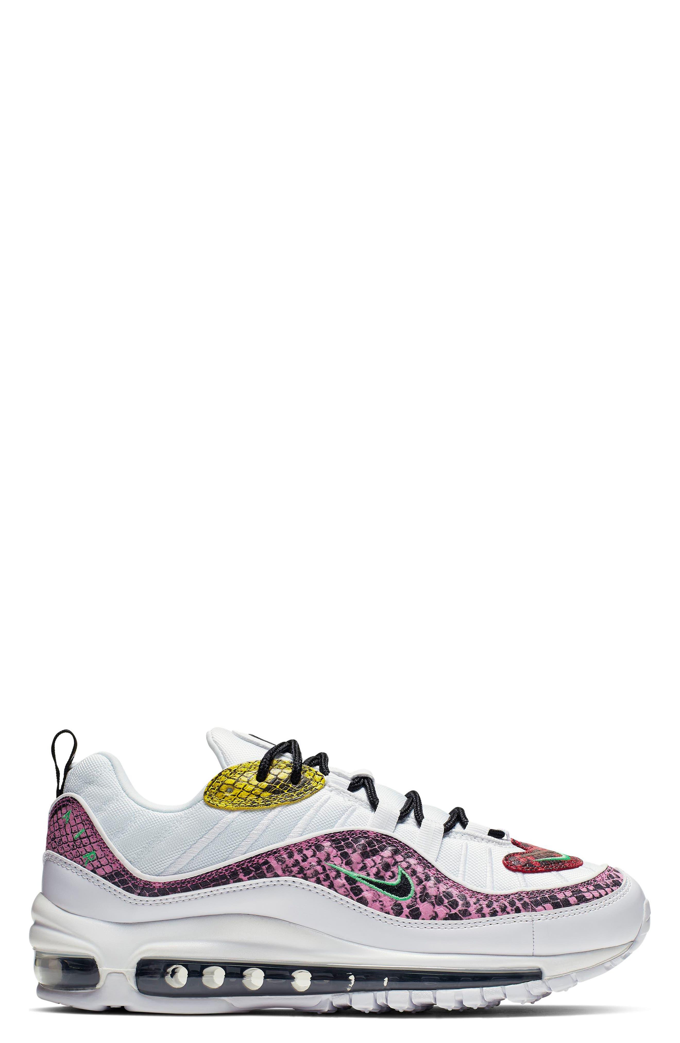 ,                             Air Max 98 Premium Sneaker,                             Alternate thumbnail 3, color,                             WHITE/ BLACK