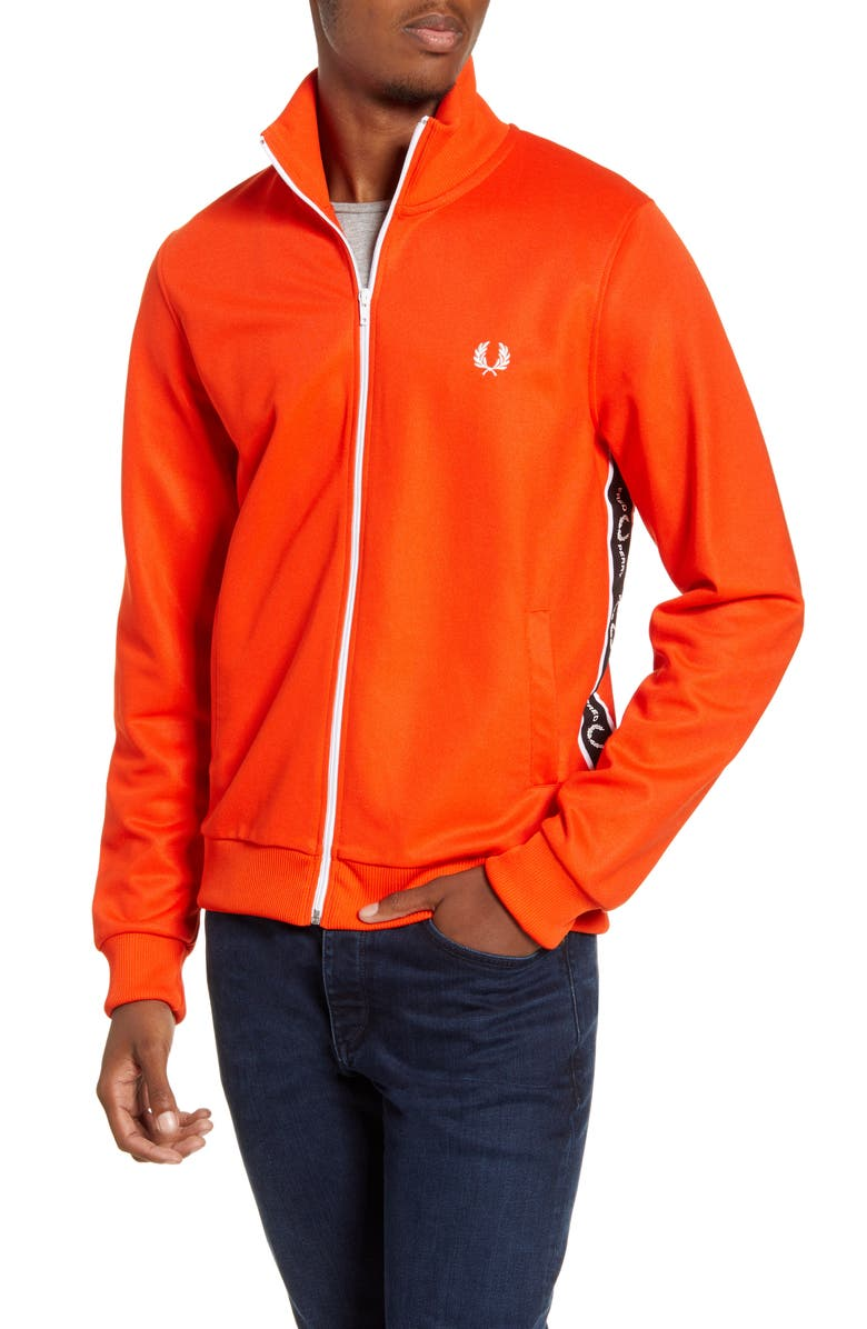 FRED PERRY Logo Tape Track Jacket, Main, color, 465