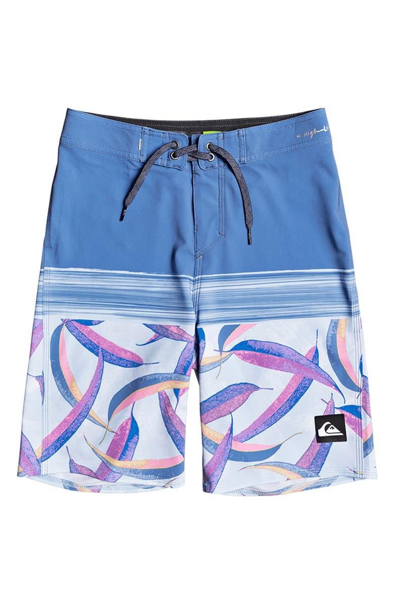 QUIKSILVER Highline Aussie Pop Board Shorts, Main, color, QUIET HARBOR