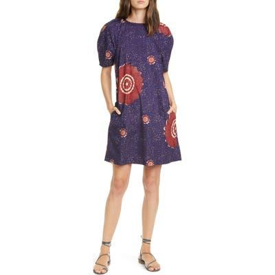 Ulla Johnson Waverly Poplin Shift Dress, Blue