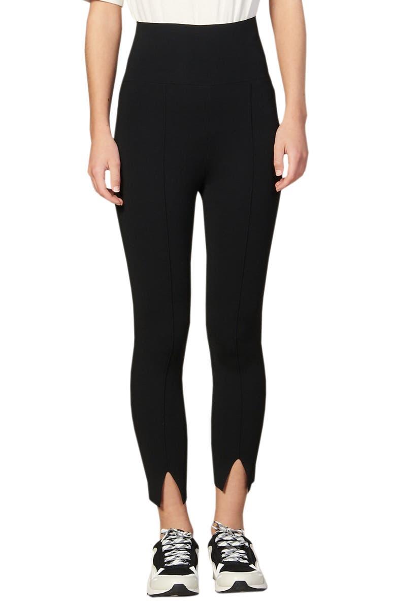SANDRO Sienna Slit Ankle Leggings, Main, color, BLACK