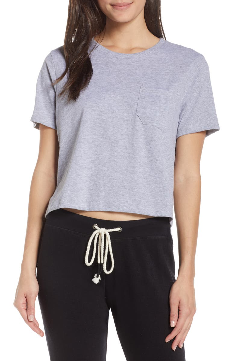 RICHER POORER Boxy Crop Tee, Main, color, HEATHER GREY
