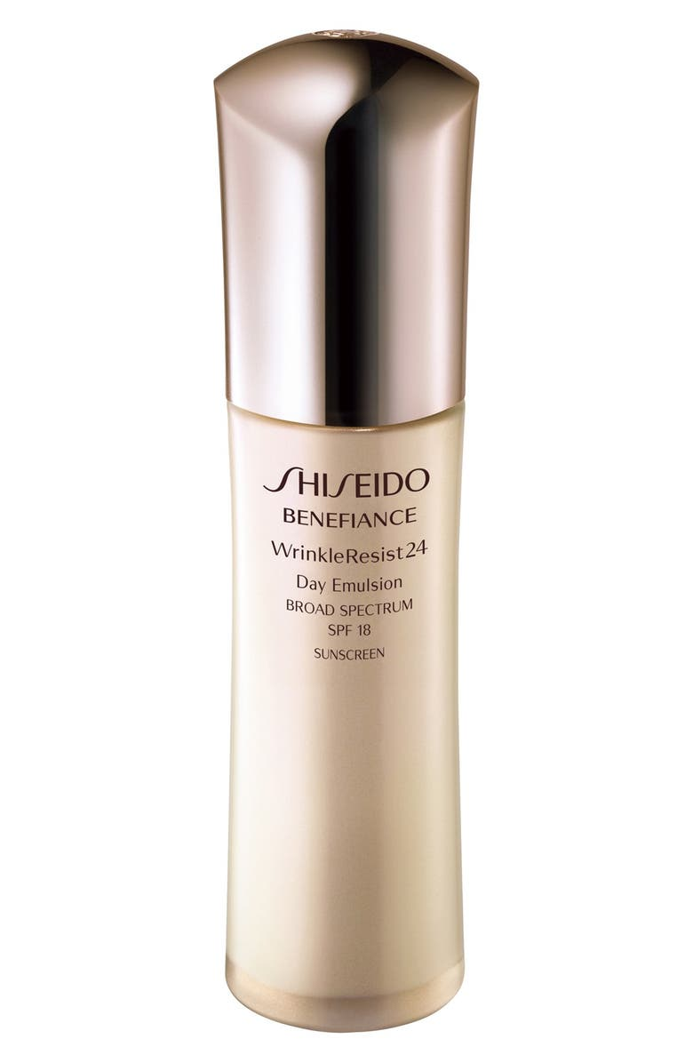 SHISEIDO Benefiance WrinkleResist24 Day Emulsion SPF 18, Main, color, NO COLOR