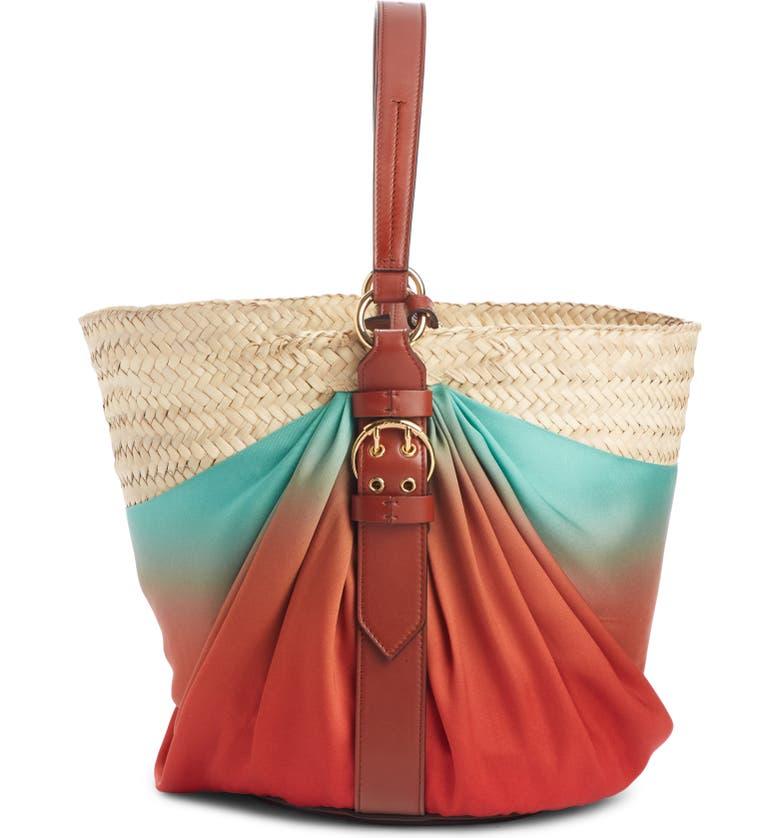CHLOÉ Panier Ombré Shoulder Bag, Main, color, BROWN MULTI