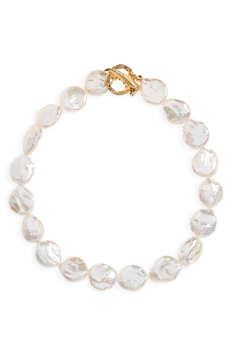LIZZIE FORTUNATO Goa Pearl Collar Necklace, Main, color, 900