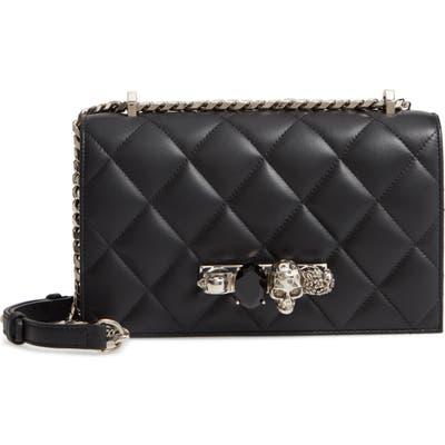 Alexander Mcqueen Matelasse Leather Shoulder Bag - Black