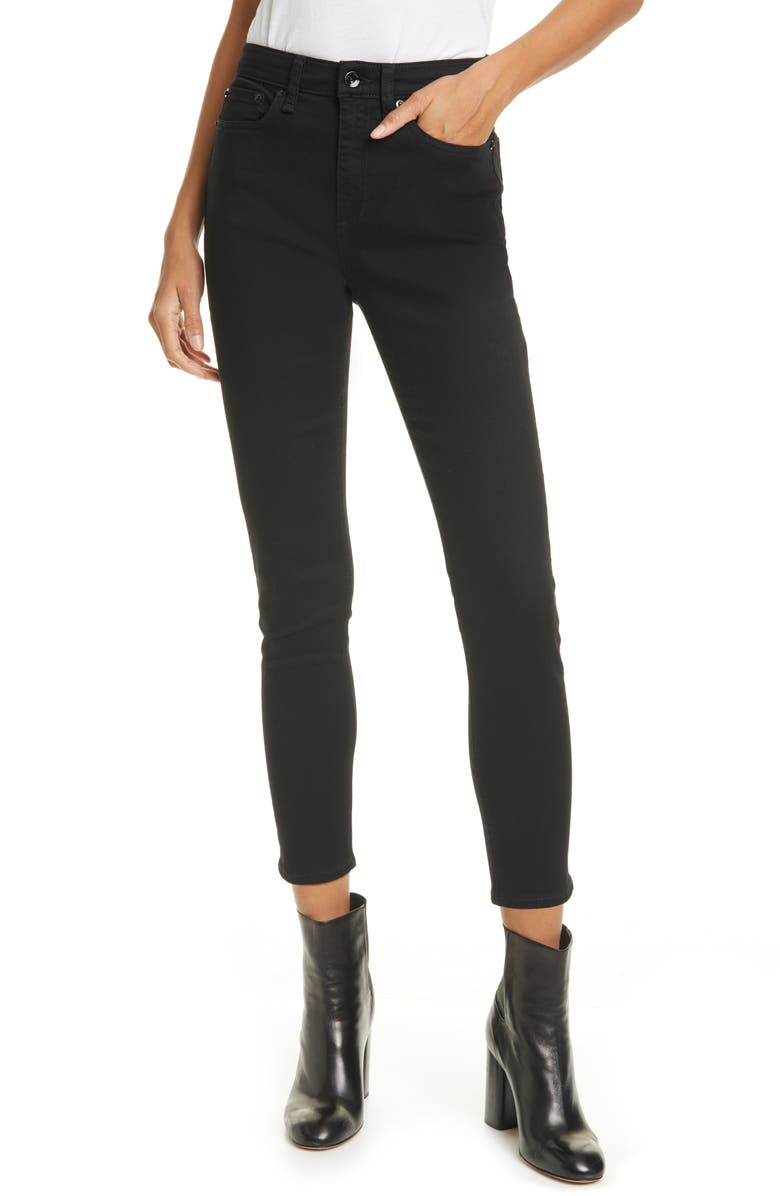 RAG & BONE Nina High Waist Crop Skinny Jeans, Main, color, NO FADE BLUE
