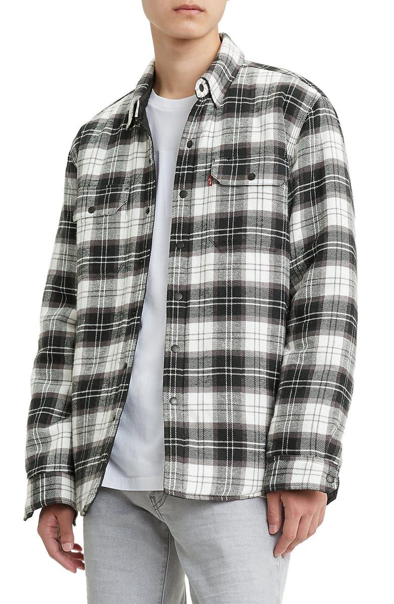 LEVI'S<SUP>®</SUP> Jackson Regular Fit Shirt Jacket, Main, color, ARCHER QUIET SHADE BLACK