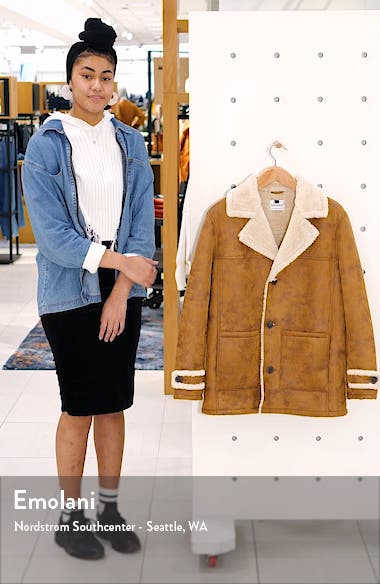 Aviator Classic Fit Faux Shearling Lined Coat, sales video thumbnail