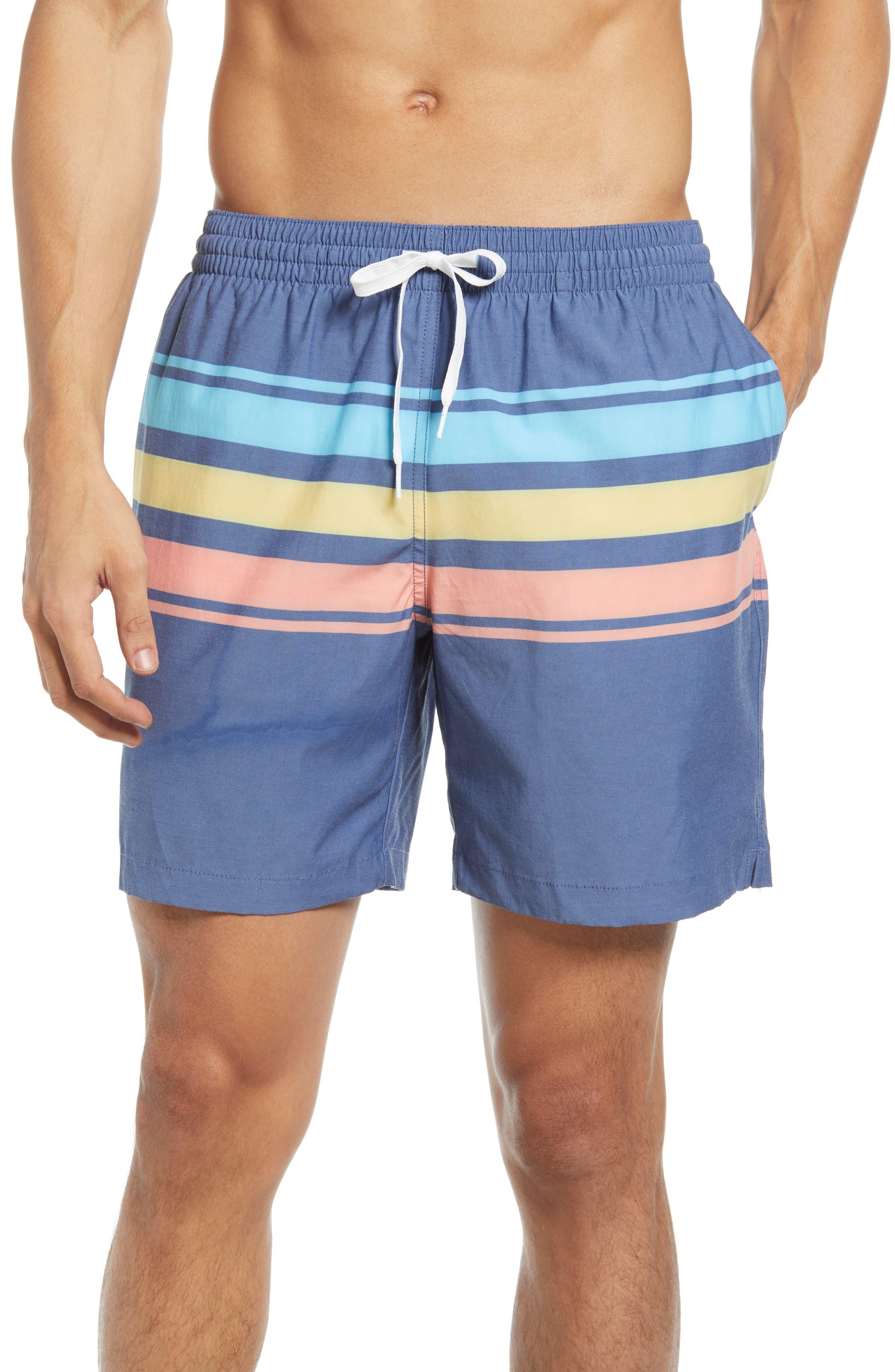 Vintage Men's Swimsuits – 1930s, 1940s, 1950s History Mens Chubbies Tropicadas 7-Inch Swim Trunks Size XX-Large - Blue $69.50 AT vintagedancer.com
