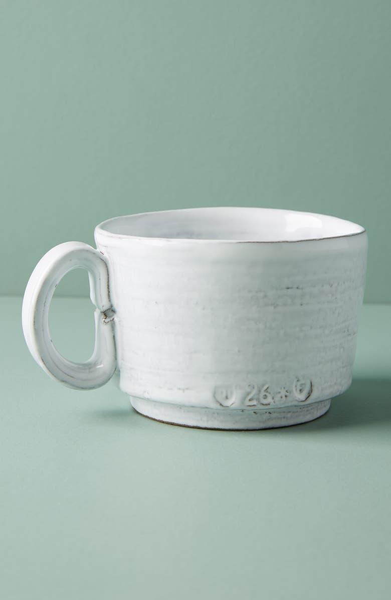 ANTHROPOLOGIE Glenna Mug, Main, color, WHITE