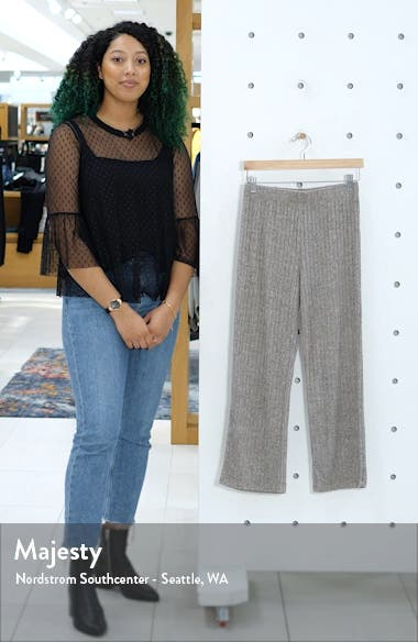 Ribbed Knit Ankle Pants, sales video thumbnail