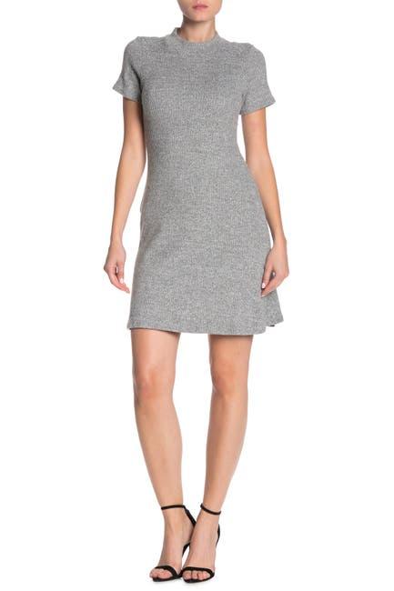 Image of Velvet Torch Ribbed Mock Neck Bodycon Dress