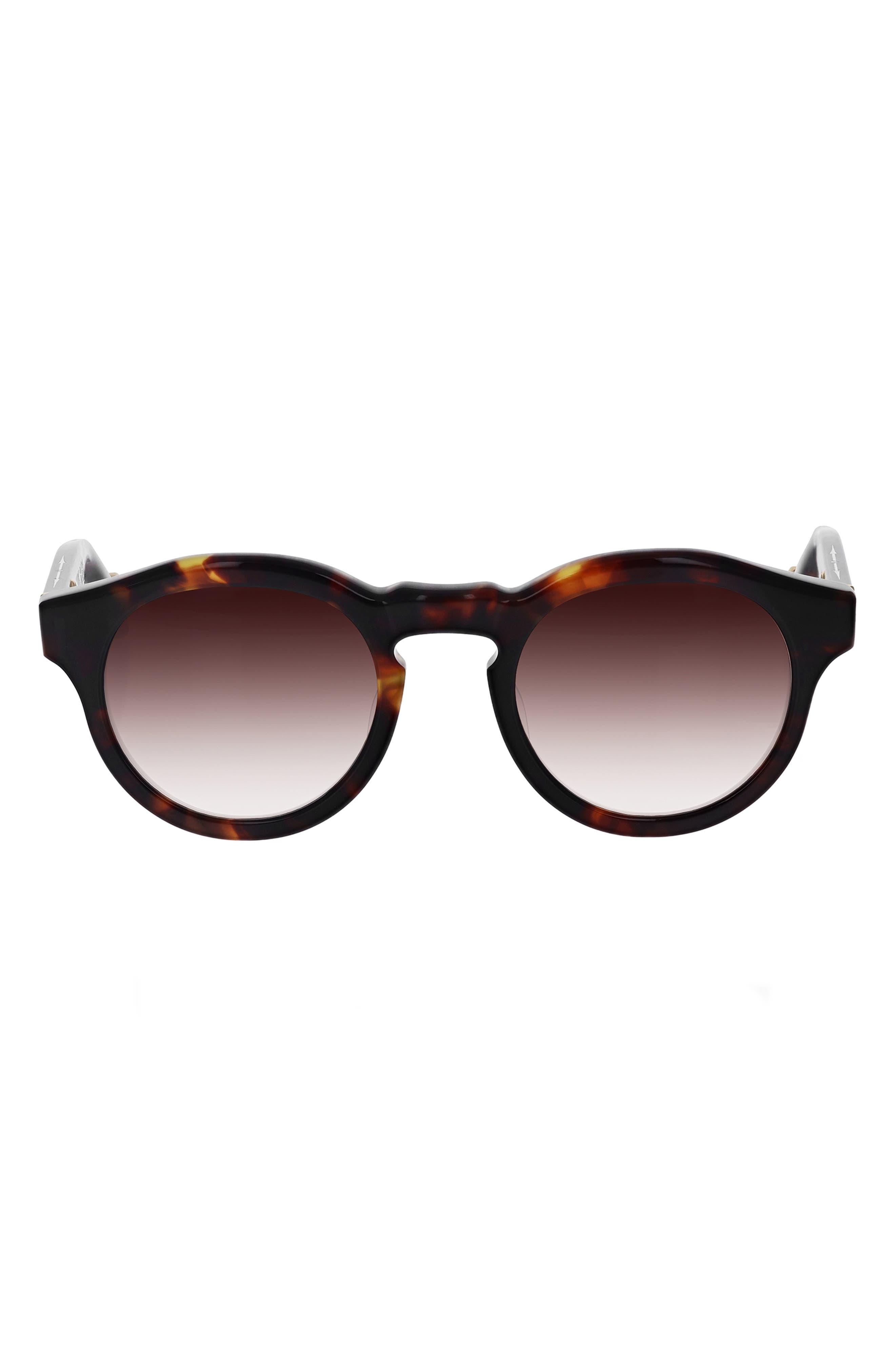Nashville 48mm Round Gradient Sunglasses