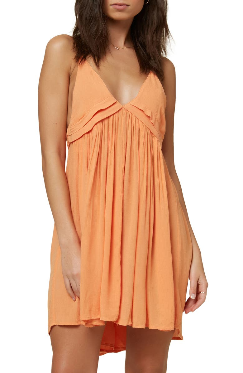 O'NEILL Saltwater Cover-Up Dress, Main, color, MELON