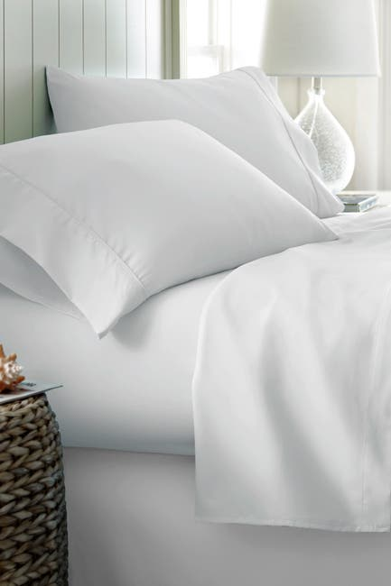 Image of IENJOY HOME Hotel Collection Premium Ultra Soft 4-Piece King Bed Sheet Set - White