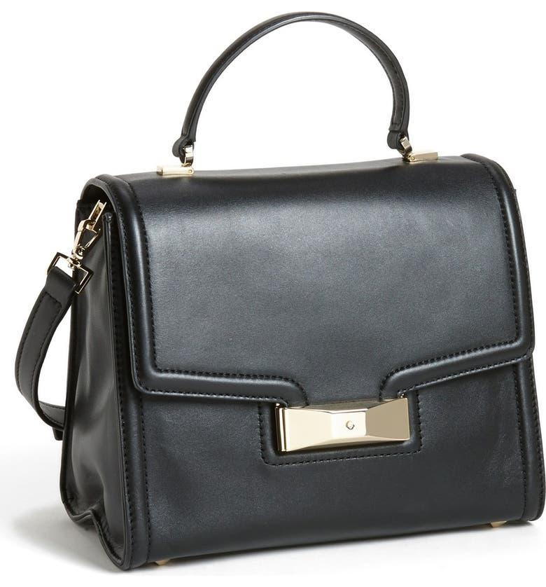 KATE SPADE NEW YORK 'carroll park - penelope' leather satchel, Main, color, Black
