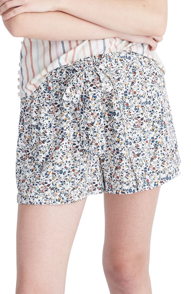 MADEWELL Drawstring Drapey Pull-On Shorts, Main, color, 900