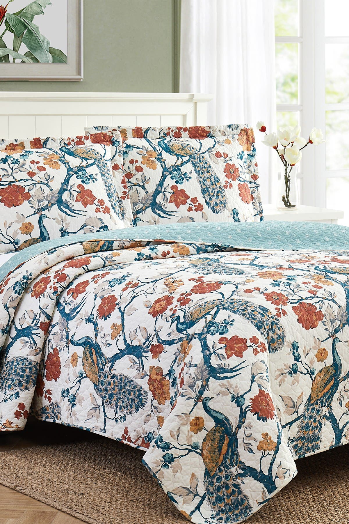 Image of Modern Threads 2-Piece Enzyme Washed Quilt Set Penelope - Twin