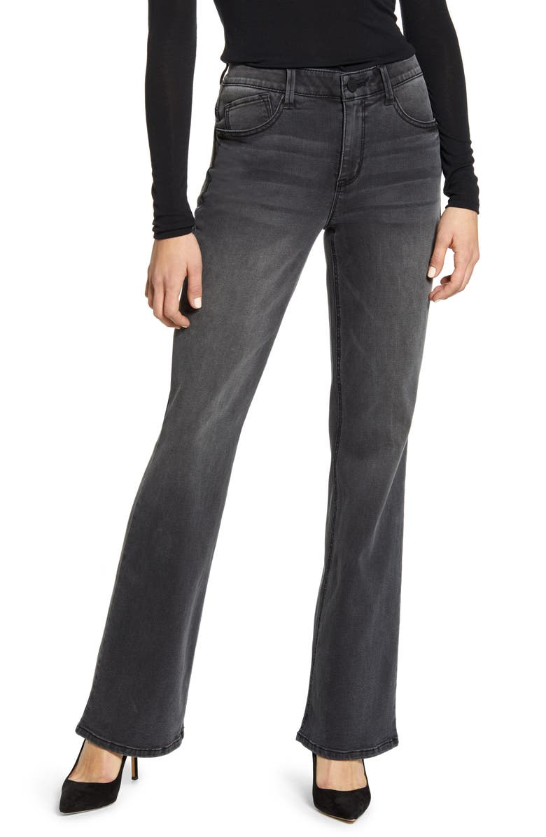 WIT & WISDOM Ab-Solution Itty Bitty High Waist Bootcut Jeans, Main, color, BLACK