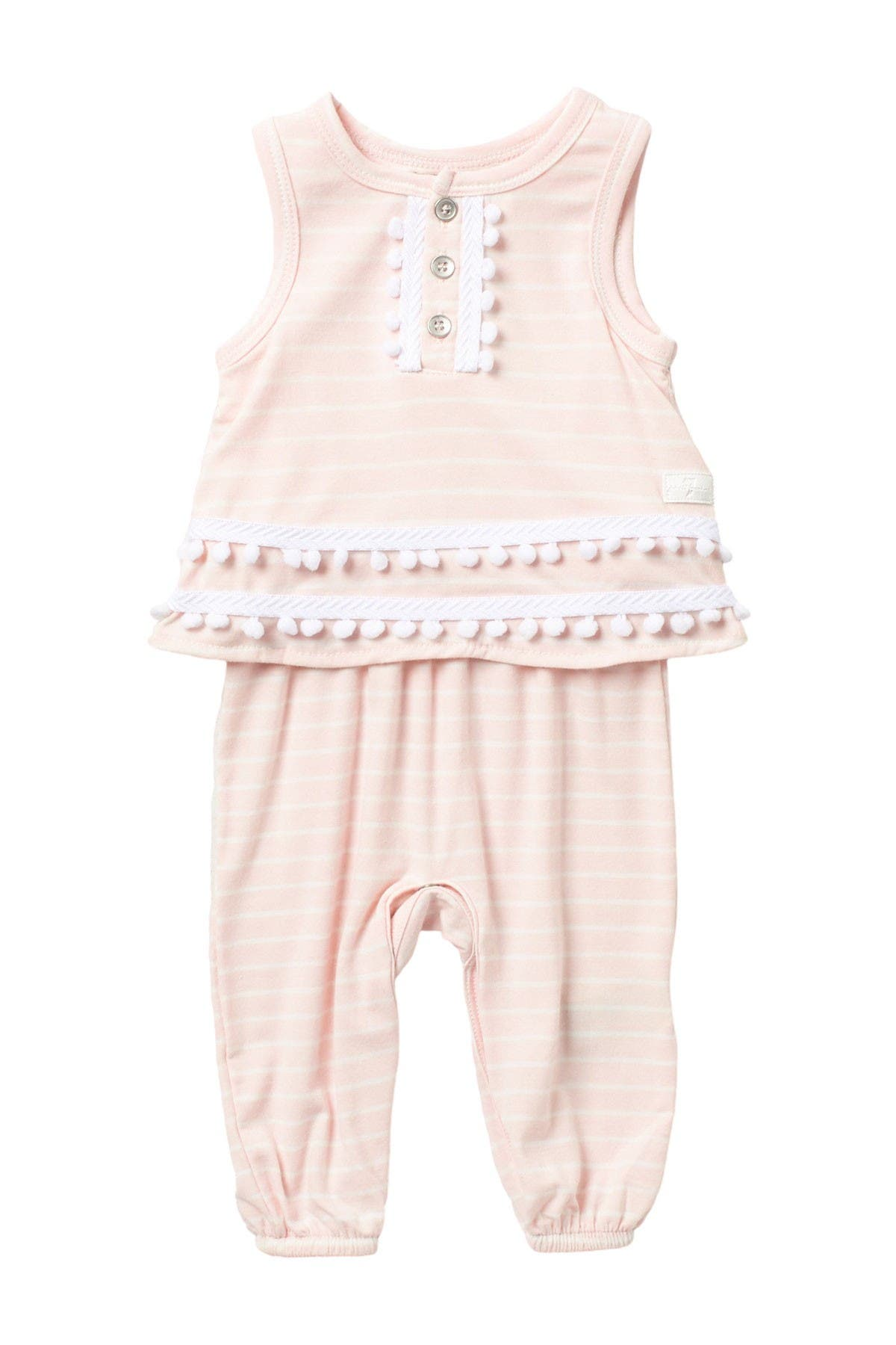 Image of 7 For All Mankind Striped Two-Fer Romper