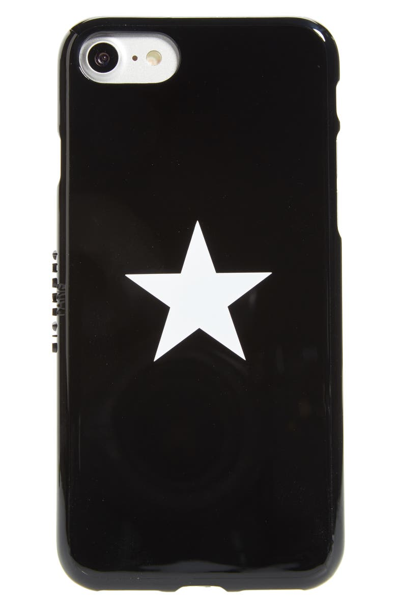 GIVENCHY White Star iPhone 7/8 Case, Main, color, 001