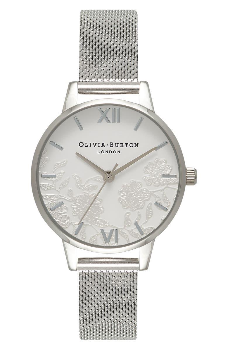 OLIVIA BURTON Mesh Strap Watch, 30mm, Main, color, 040