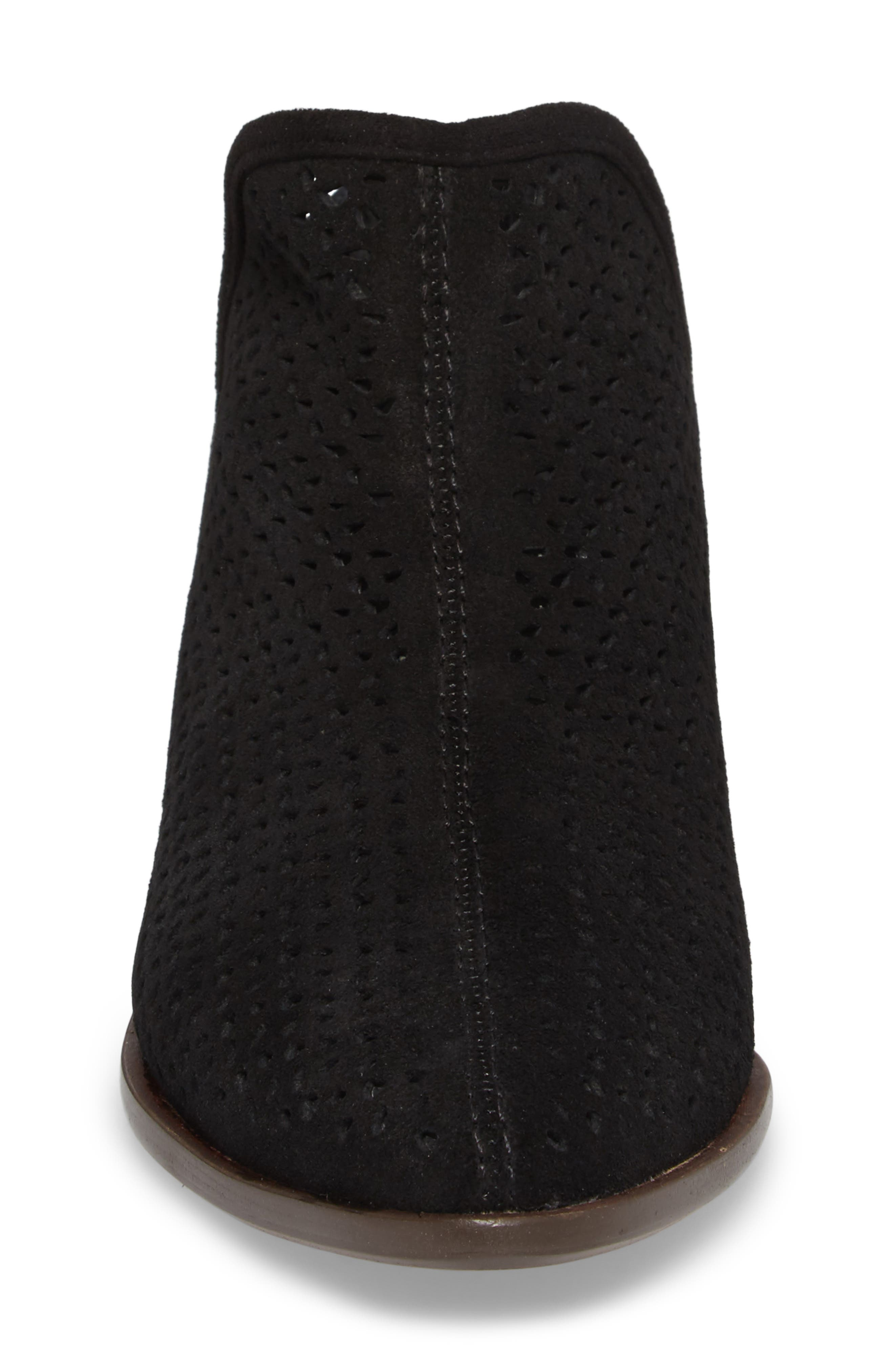 ,                             Alley Perforated Bootie,                             Alternate thumbnail 4, color,                             BLACK