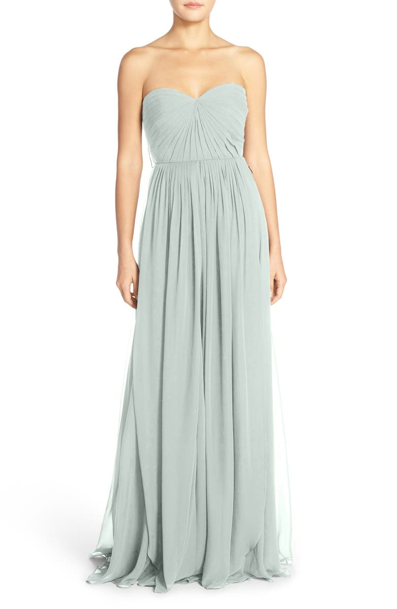 72b5eeaf644f Mira Convertible Strapless Chiffon Gown, Main, color, MORNING MIST