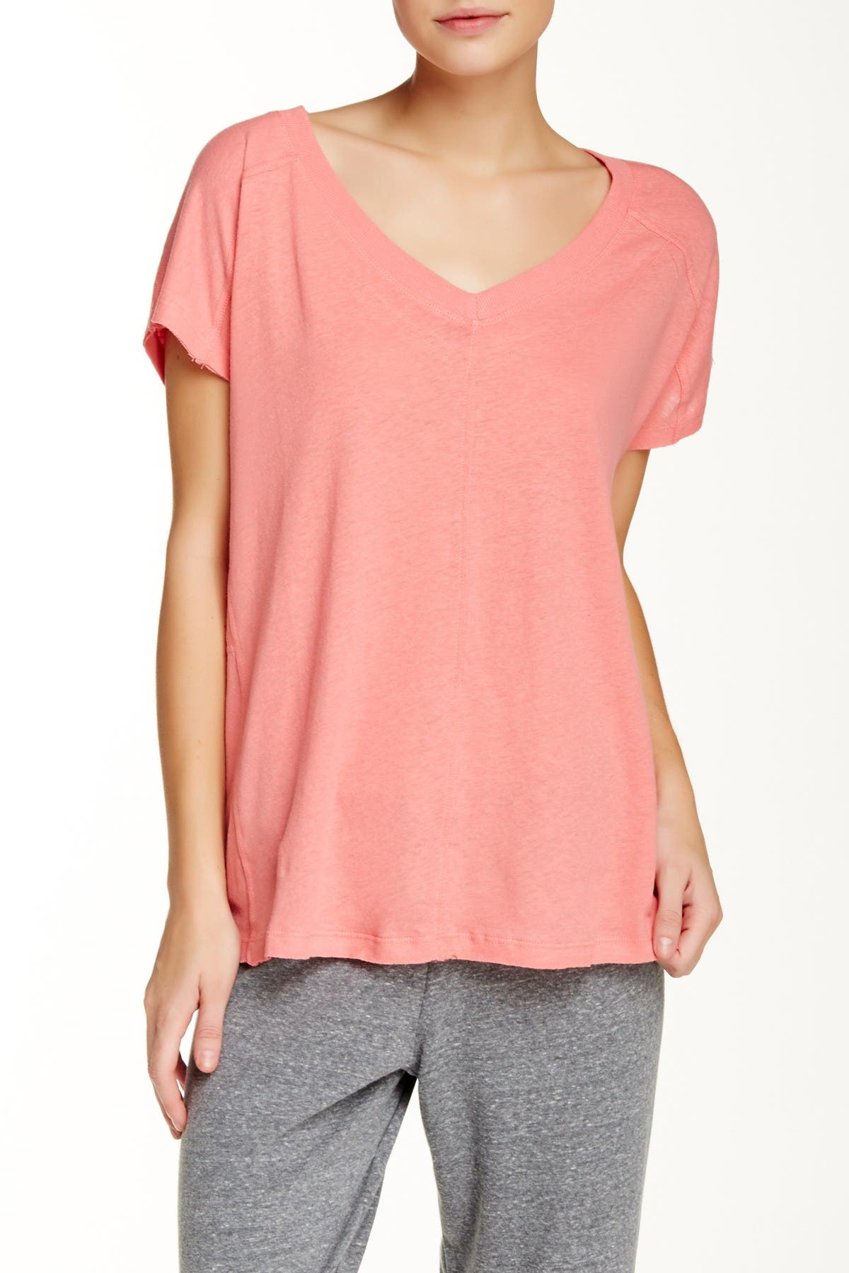Image of Honeydew Intimates Take Ten Linen Blend T-Shirt