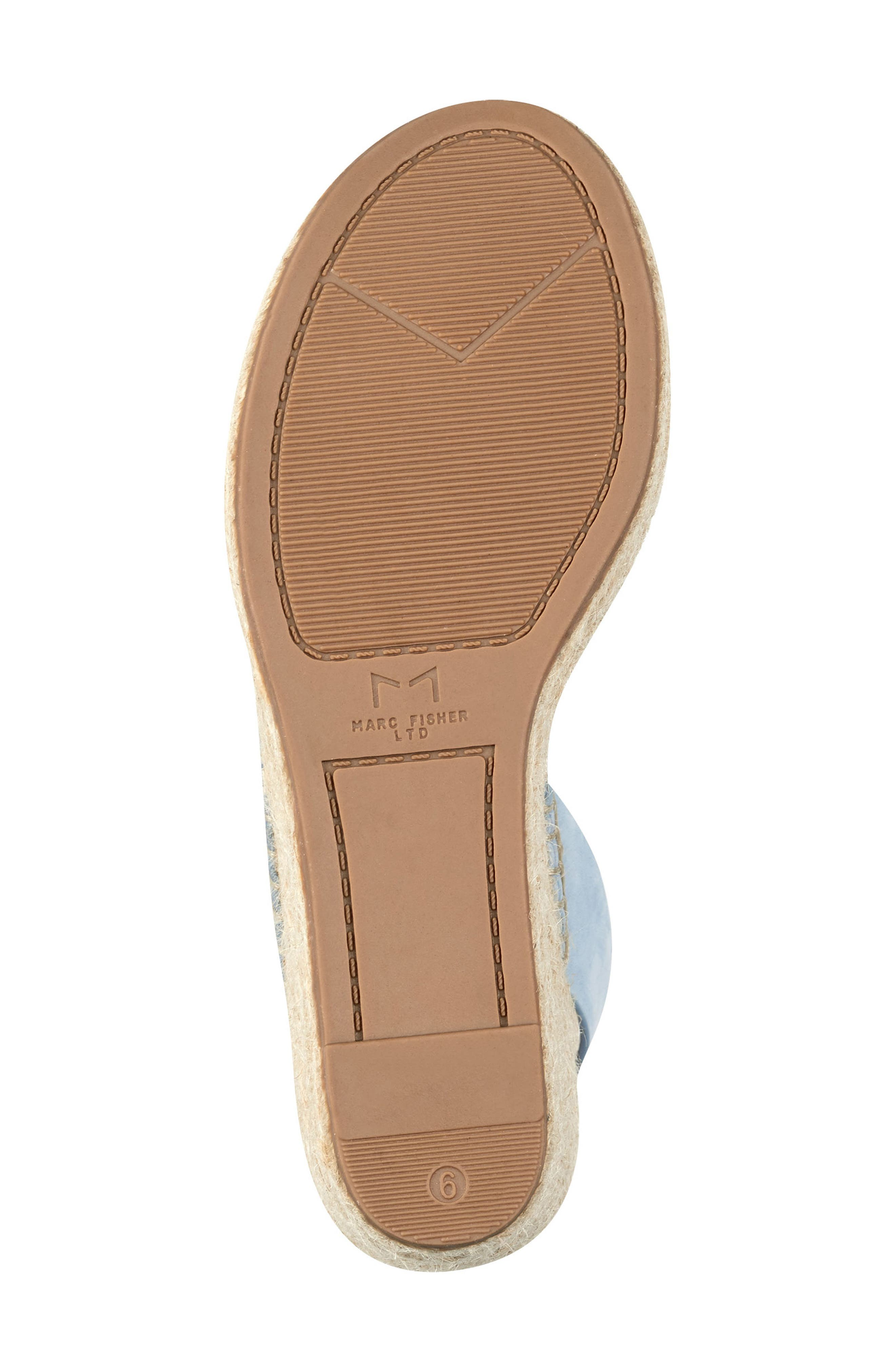 ,                             Andela Slingback Espadrille Wedge,                             Alternate thumbnail 6, color,                             LIGHT BLUE NUBUCK