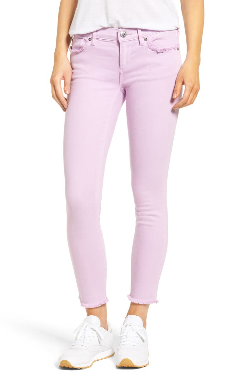TRUE RELIGION BRAND JEANS Casey Crop Fray Jeans, Main, color, 545