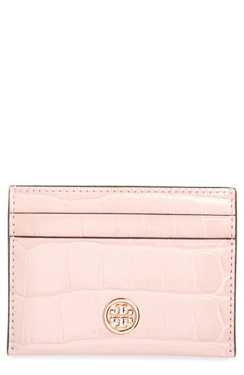 TORY BURCH Robinson Embossed Leather Card Case 原價港幣822.07 優惠價657.66