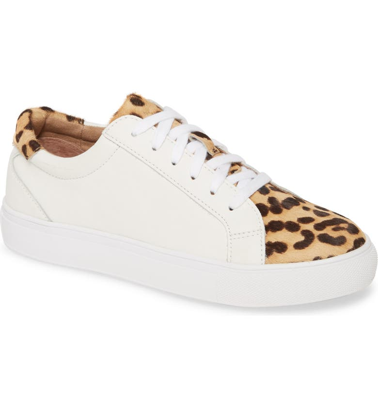 HALOGEN<SUP>®</SUP> Cassie 2 Lace Up Sneaker, Main, color, WHITE LEATHER / HAIRCALF PRINT