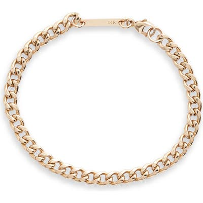 Zoe Chicco Medium Curb Chain Bracelet