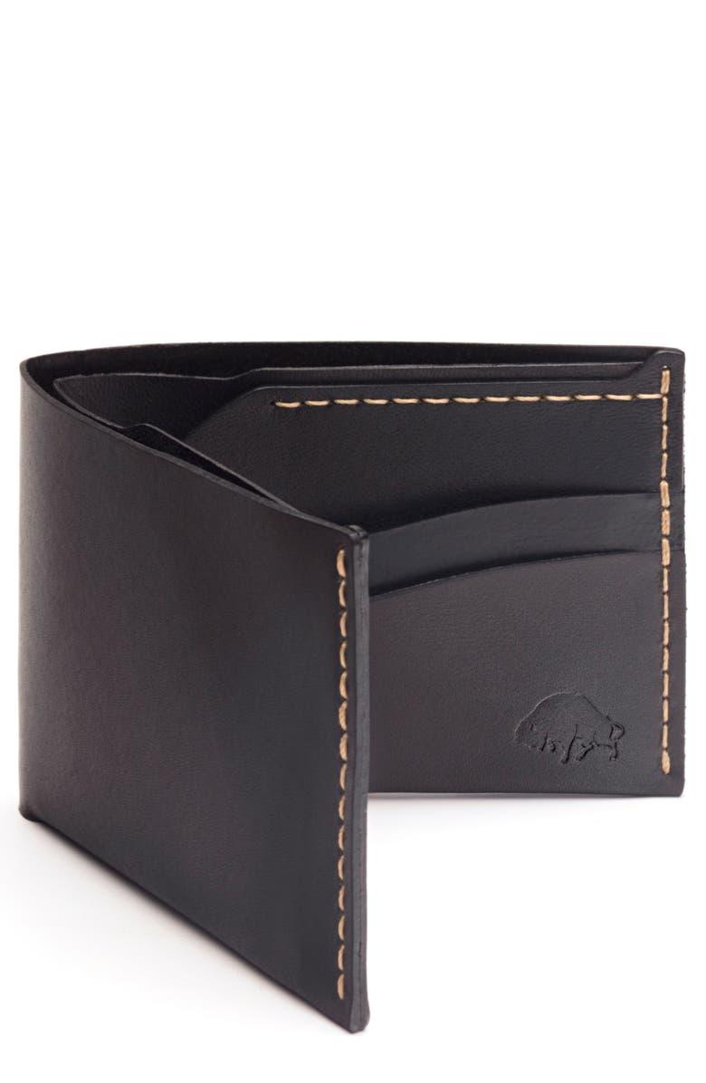 EZRA ARTHUR No. 6 Leather Wallet, Main, color, 005