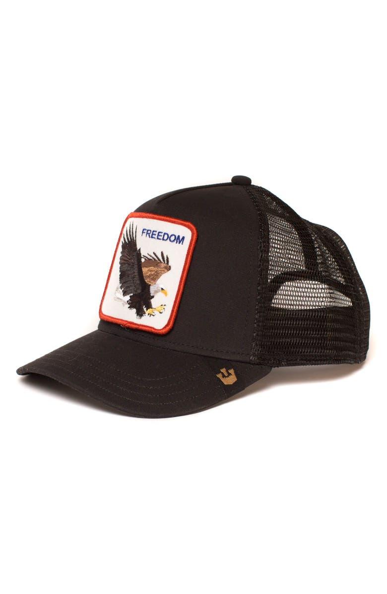 GOORIN BROS. Freedom Trucker Hat, Main, color, BLACK