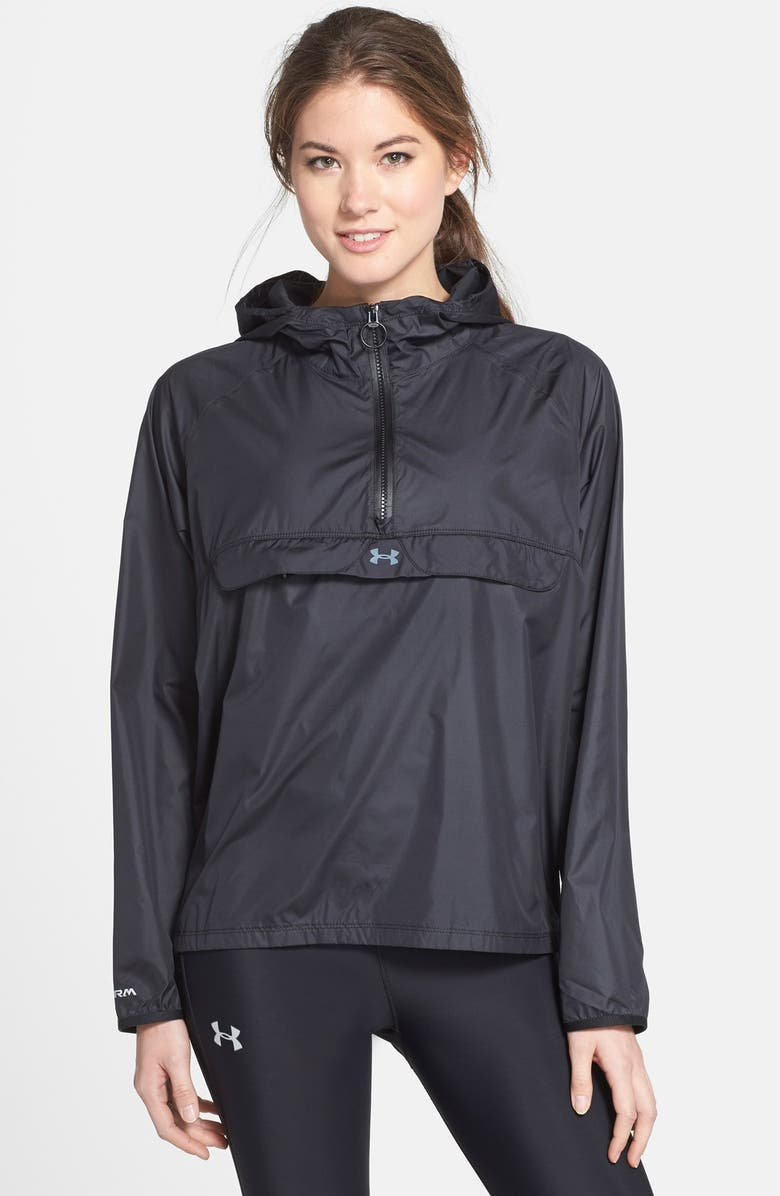 UNDER ARMOUR 'Storm' Hooded Jacket, Main, color, 001