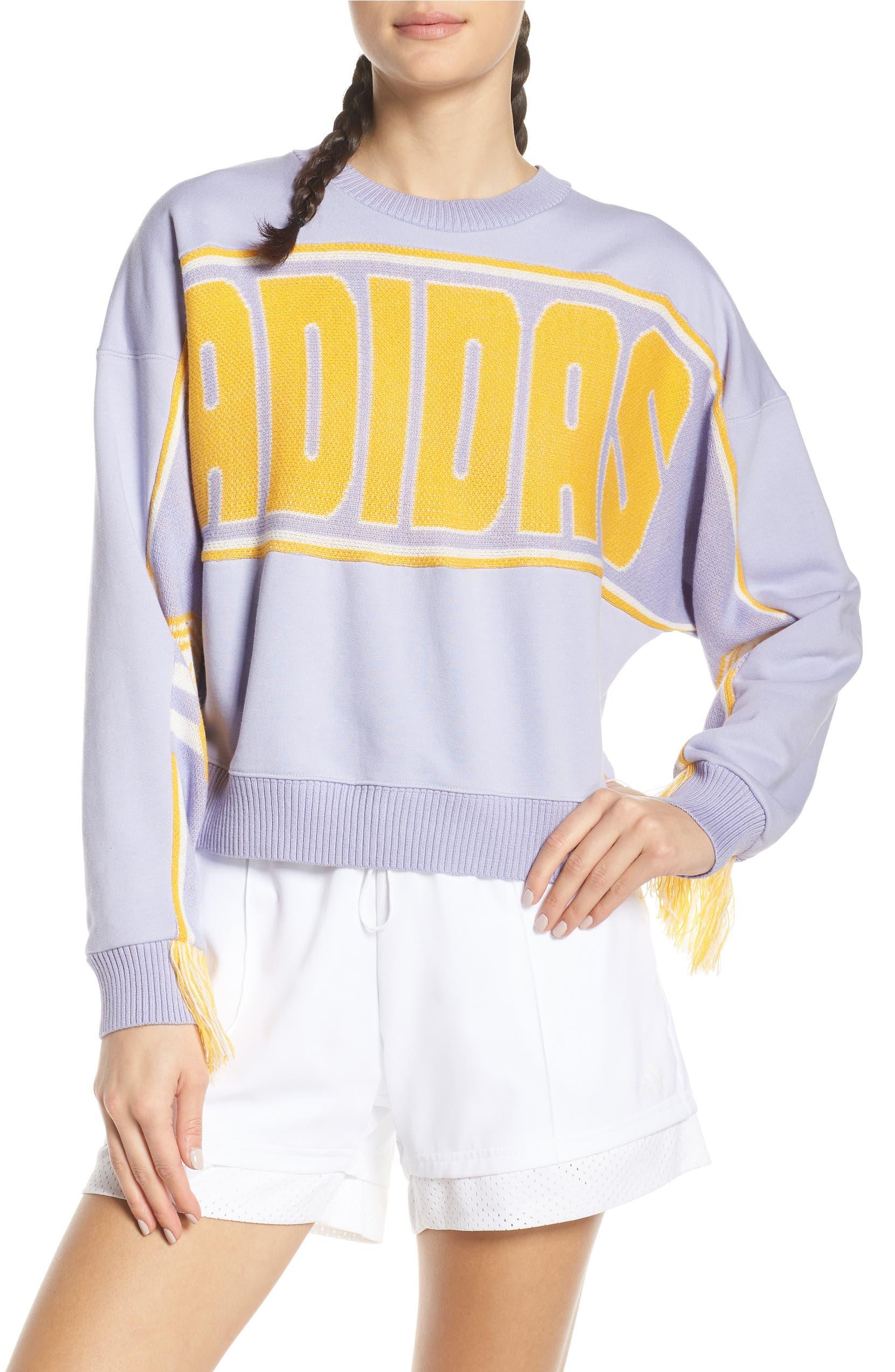 ADIDAS Originals Sweatshirt mit Logo Print Beige