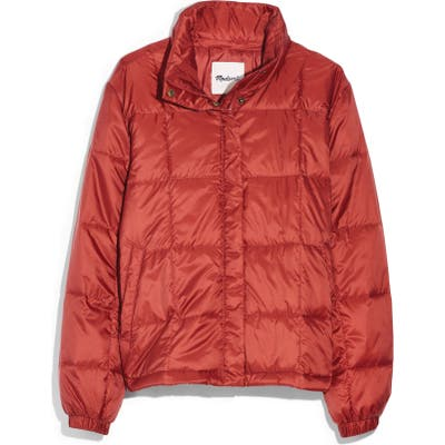 Madewell Travel Buddy Packable Puffer Jacket, Orange