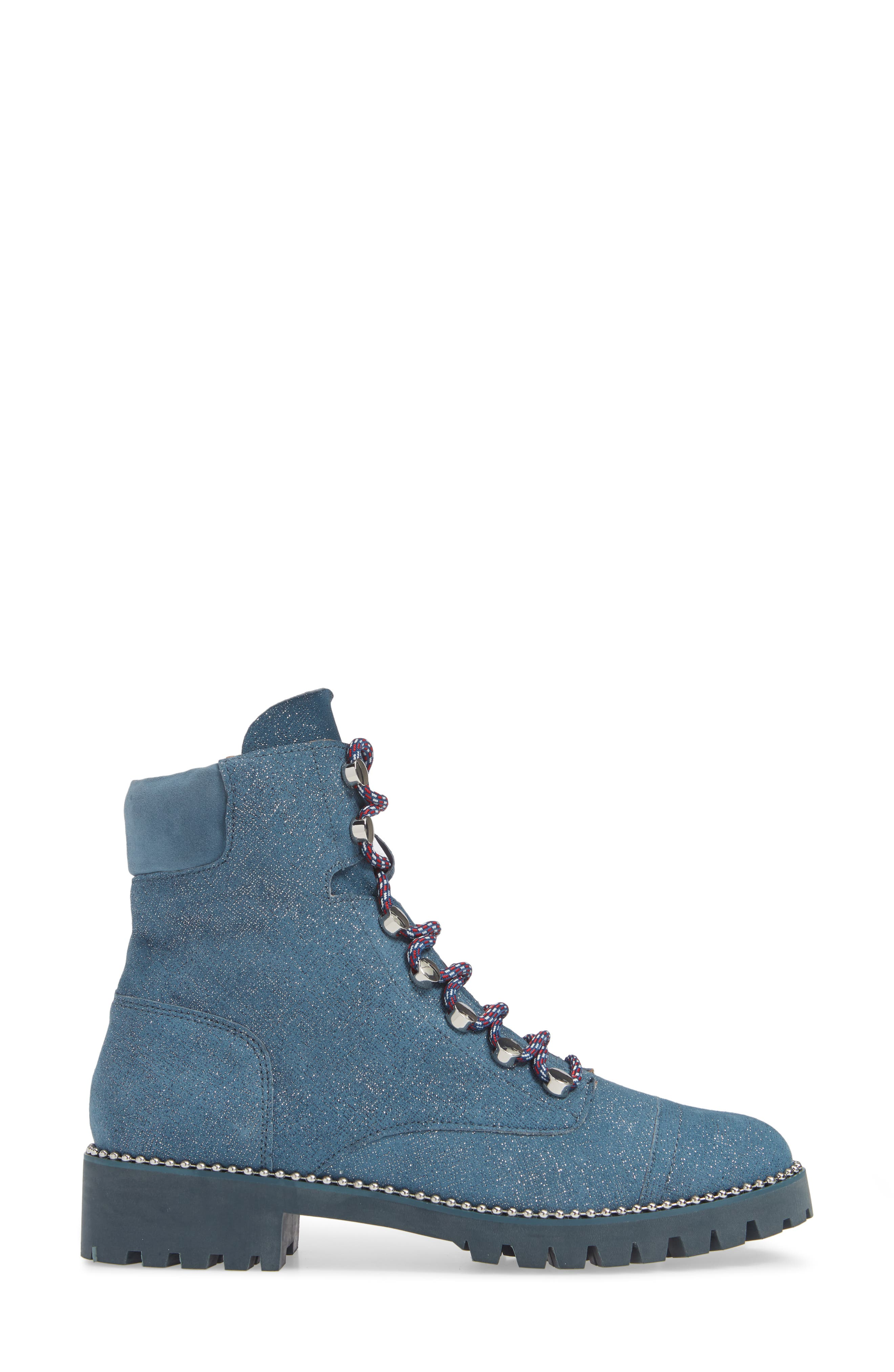 ,                             Trekker Boot,                             Alternate thumbnail 3, color,                             GLITTER DENIM