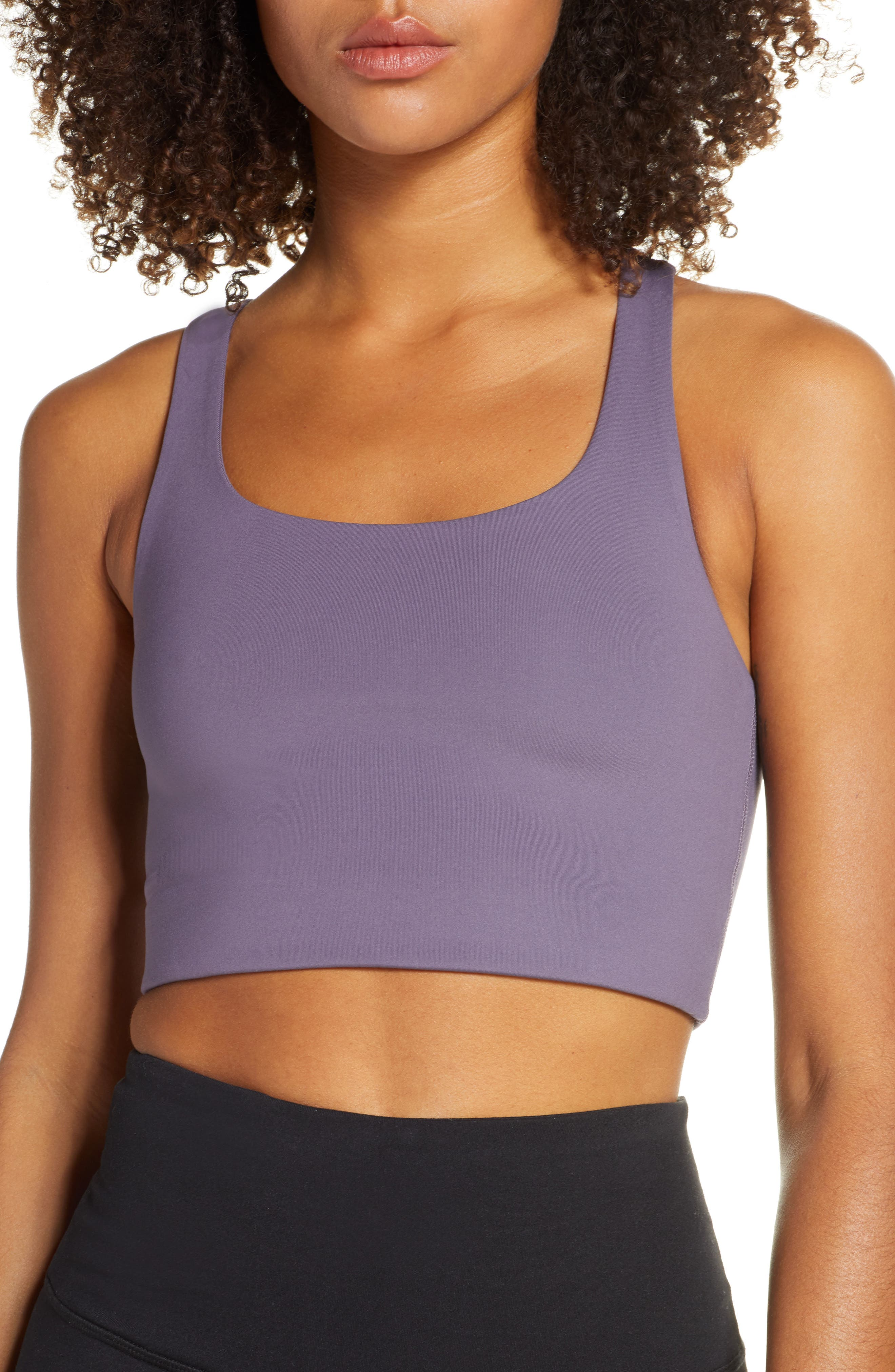 Girlfriend Collective Paloma Sports Bra, Purple