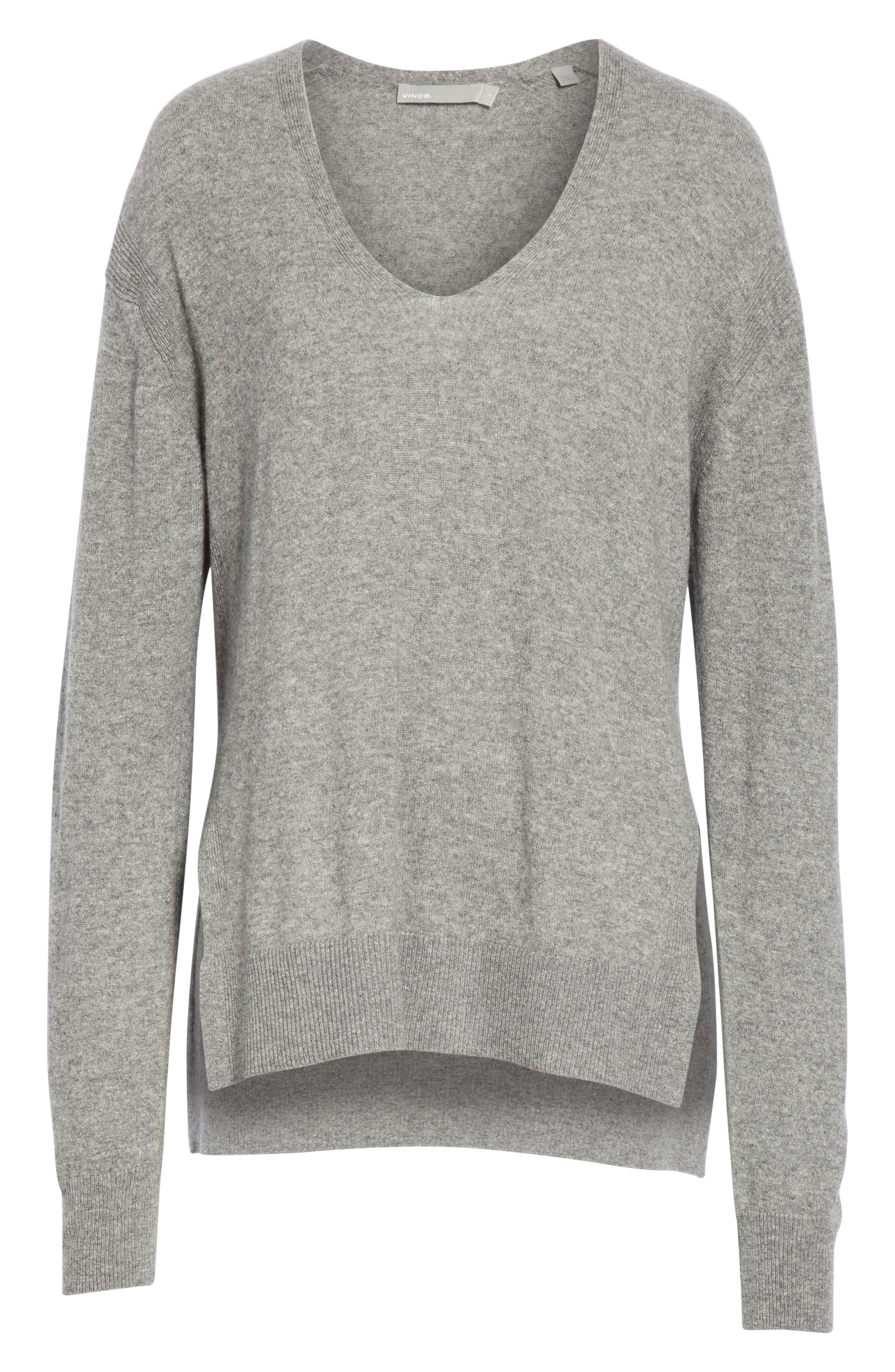 ,                             Wool & Cashmere V-Neck Sweater,                             Alternate thumbnail 6, color,                             062