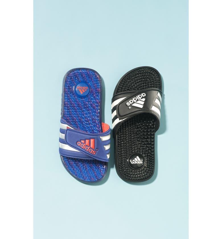 ADIDAS 'Adissage - Graphic' Sandal, Main, color, 001