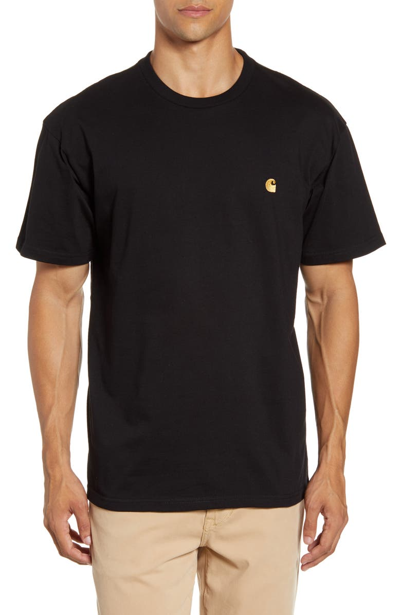 CARHARTT WORK IN PROGRESS Chase Crewneck T-Shirt, Main, color, 001