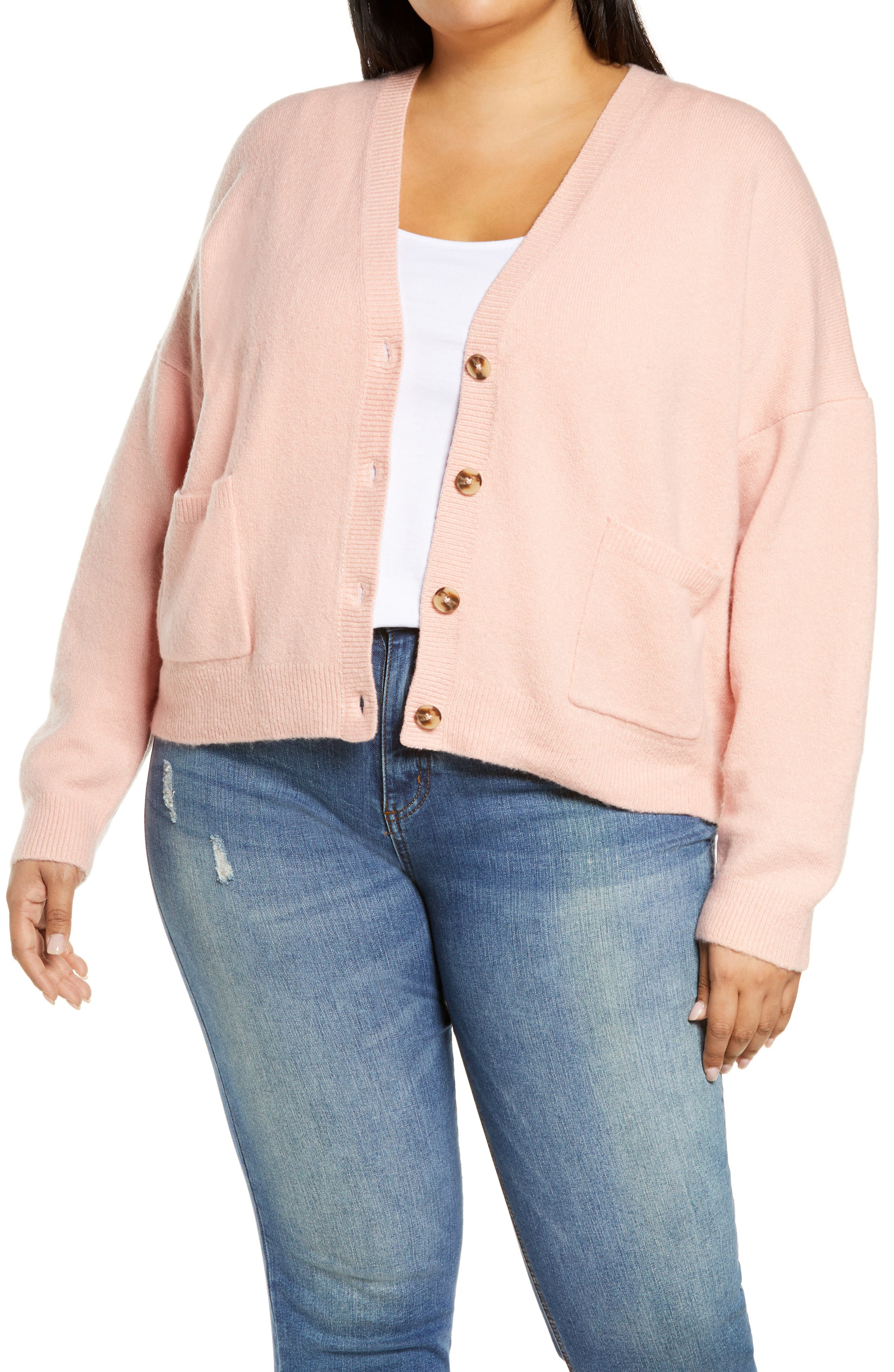 Image of Madewell Button Front V-Neck Cardigan